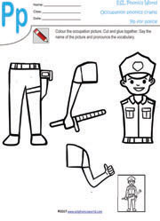 Police Officers Worksheet - Matching | Worksheets, Sentences and ...