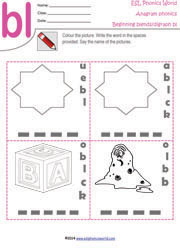 Worksheet Esl Phonics Worksheets free phonics worksheets kindergarten printables anagram worksheets