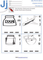 letter-j-anagram-worksheet