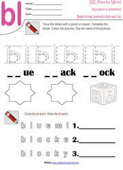 Beginning Consonant Blend Worksheets | Two Letter Blend Phonics