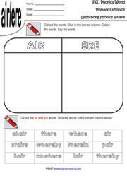 air-ere-diphthong-match-up-worksheet