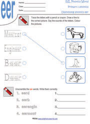 eer-diphthong-worksheet