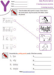 y-ending-sound-worksheets